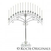 15 Light Fan Floor Candelabra