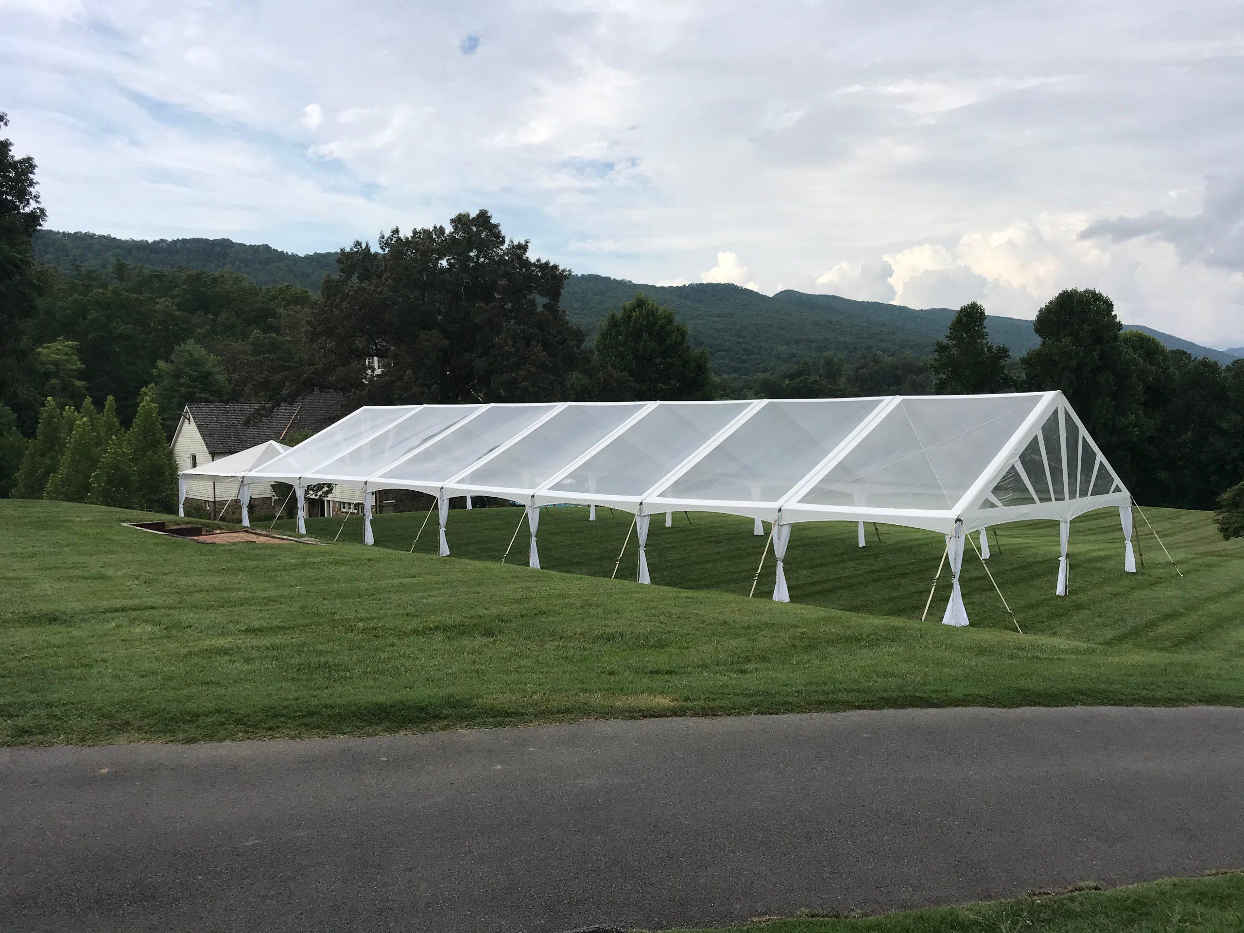 White Frame Tent Outside