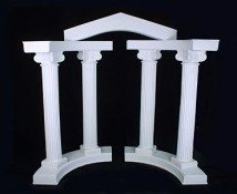 Grecian Column Set with Top Arch
